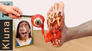 KLUNA TIK Eating Demon Eye in Cancer Foot - Mukbang Eating Sounds ASMR