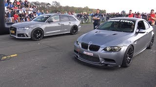 BMW M3 E92 G-POWER V8 COMPRESSOR vs Audi RS6 Avant C7