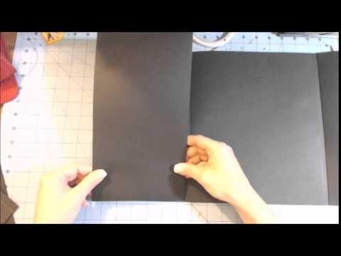 Scrapbook folder folio tutorial part 1