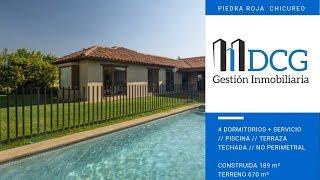 PIEDRA ROJA // CASA DE 1 PISO //  4 DORMITORIOS // PISCINA // TERRAZA TECHADA // TERRENO 670 mt2