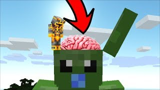MC NAVEED TRAVELS INSIDE BABY ZOMBIE BRAIN TO DESTROY ALL THE DANGEROUS MOBS MOD!! Minecraft