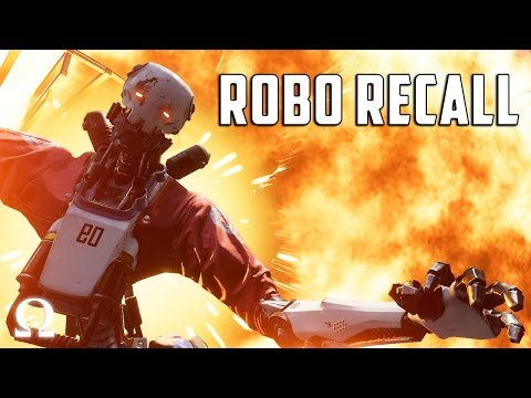 THESE ROBOTS ARE GOING DOWN!   Robo Recall #1 Oculus Rift VR Gameplay