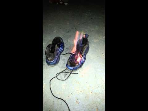 Burning Royal Blue Foamposites