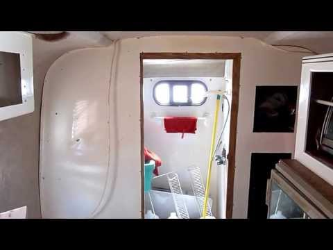 '98 Scamp Trailer Remodel - Stripping The Cat Fur From the Fiberglass