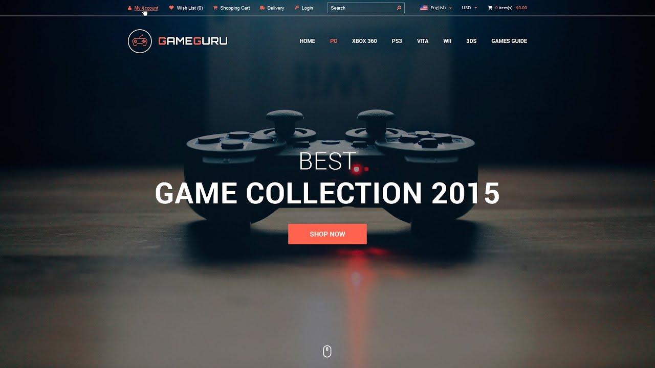 Gameguru - Play Games Store Template