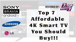 Top 7 Affordable 4K Smart TV You Should Buy | Best 7 4K Smart TV Of 2017 | Top 7 Best 7
