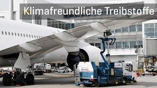 Klimafreundliche Treibstoffe am Flughafen München