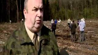 Sadzenie lasu europejskiego 2010 Dąbrowa  Górnicza Łazy Błędowskie