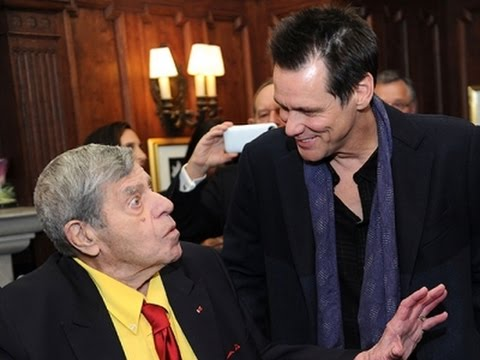 Jerry Lewis Cele Tes Birthday With Jim Carrey