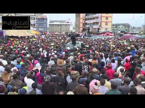 RUTO SHOCKED AS WAITITU IS HECKLED AS HE WATCHES IN GITHURAI!!
