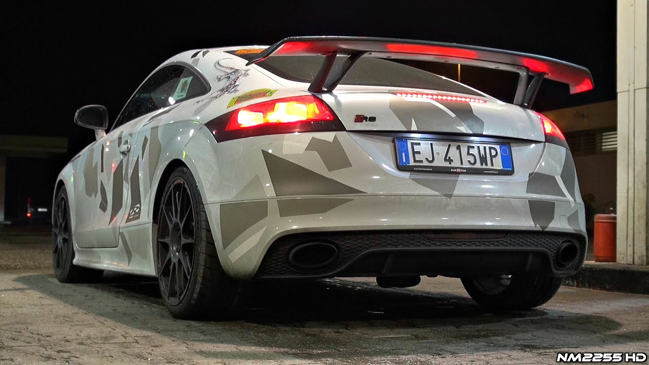Audi TTRS Custom Made Exhaust Sound Launch Control Accelerations - Audi custom