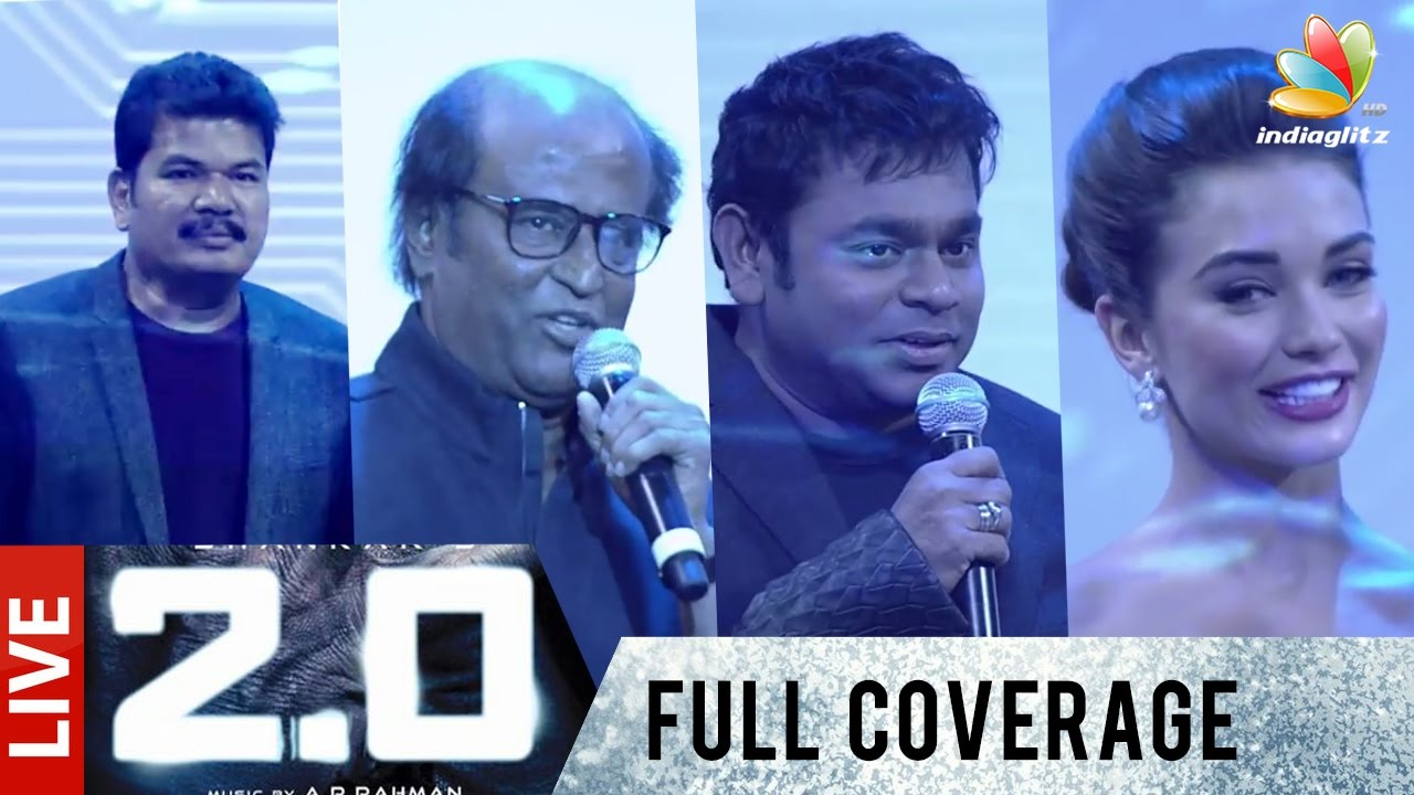 2.0 First Look LIVE - Full Coverage in Tamil | Rajinikanth, Shankar ...
