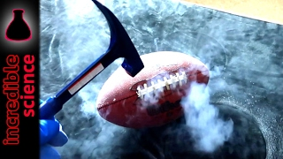 NFL Football in Liquid Nitrogen Science Experiment SHOCKING ENDING!!