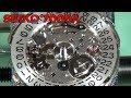 Seiko 7009 - Assembling watch movement