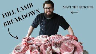 How to Butcher a FULL Lamb into Roasts // Matt the Butcher