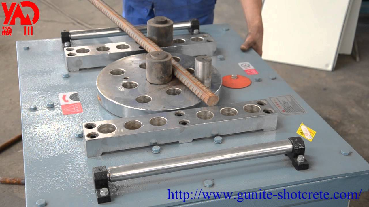 Gw40 Gw50 Rebar Bender Steel Bar Bending Machine Video