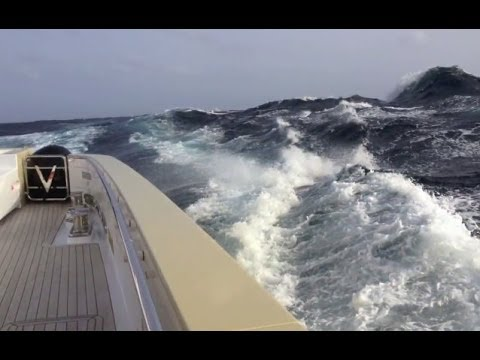 Silver Yacht Smeralda Delivery in Stormy High
