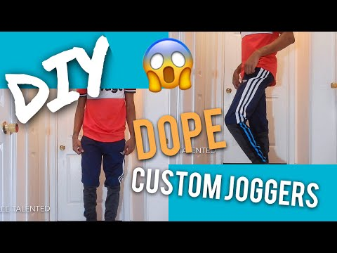 HOW TO CREATE YOUR OWN JOGGERS | DIY !!