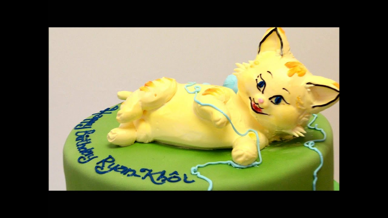 Perfect Cat Cake Cat shaped cake made in whipped cream YouTube