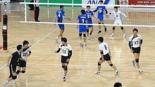 中央大学 vs 東レアローズ 1セット目 天皇杯2018男子 2回戦