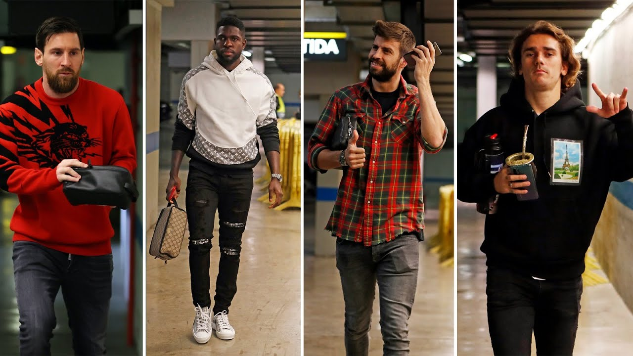 Matchday Outfits By Barca Players Youtube