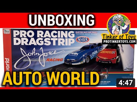 UNBOXING - 13' Pro Racing Dragstrip HO Scale | Auto World