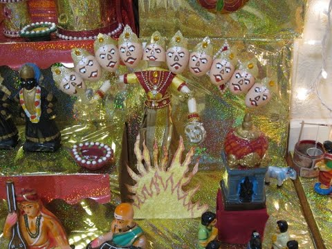 DIY Ravana Easter Egg Doll/Rangoli Milk can lids/ Golu 2018/DIY Mandap /Plastic bottle caps crafts
