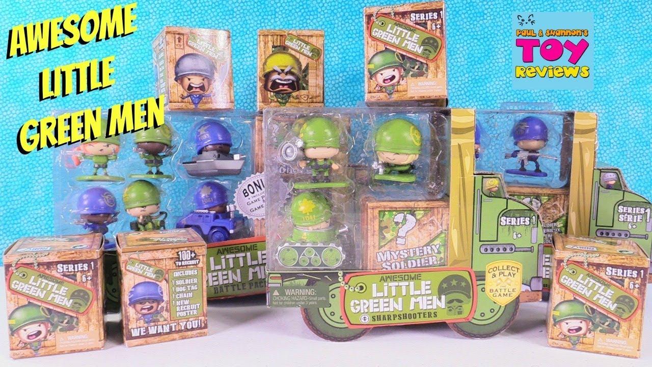 Awesome Little Green Men Battle Pack Series 1 Blind Box ...