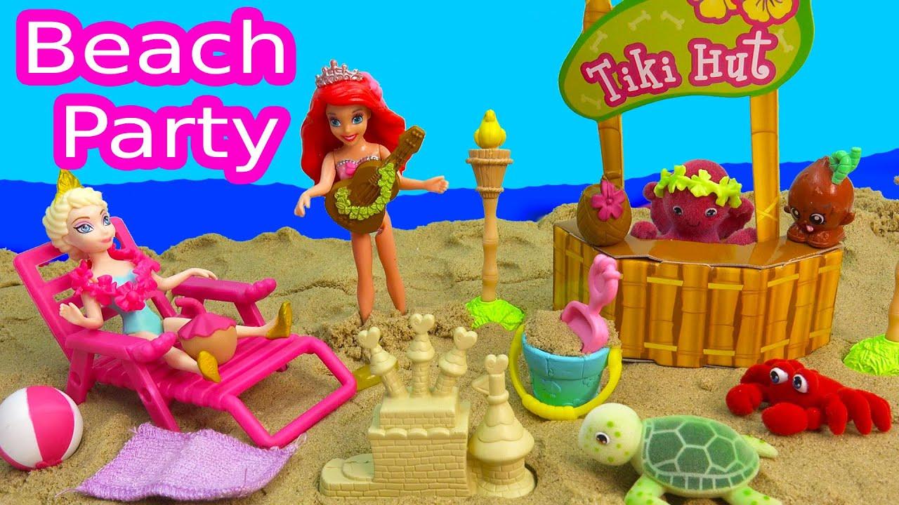 Tropical Beach Party Playset Ocean In My Pocket Disney Queen Elsa Ariel The Little Mermaid Magiclip
