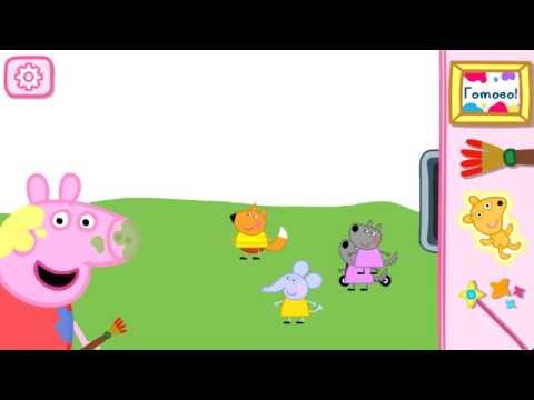 Свинка Пеппа мультики  игра для малышей Раскраска Ура! Мультики!