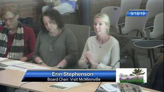 Council Work Session - Visit Mcminnville 9/18/19