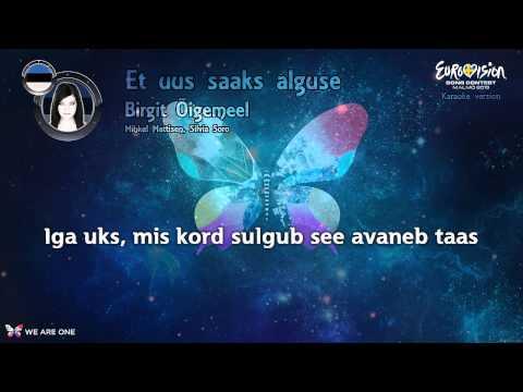 """Birgit Õigemeel - """"Et Uus Saaks Alguse"""" (Estonia) - Karaoke version"""
