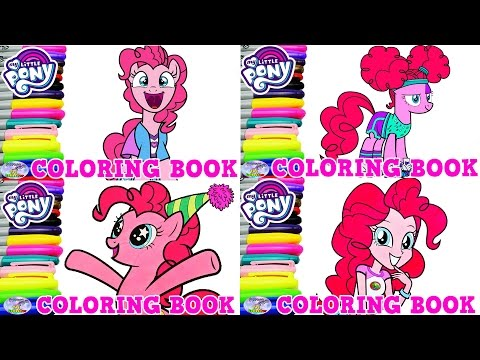 My Little Pony Coloring Book Pinkie Pie Compilation Episode Surprise Egg and Toy Collector SETC