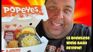 Popeyes® $5 Boneless Wing Bash REVIEW!