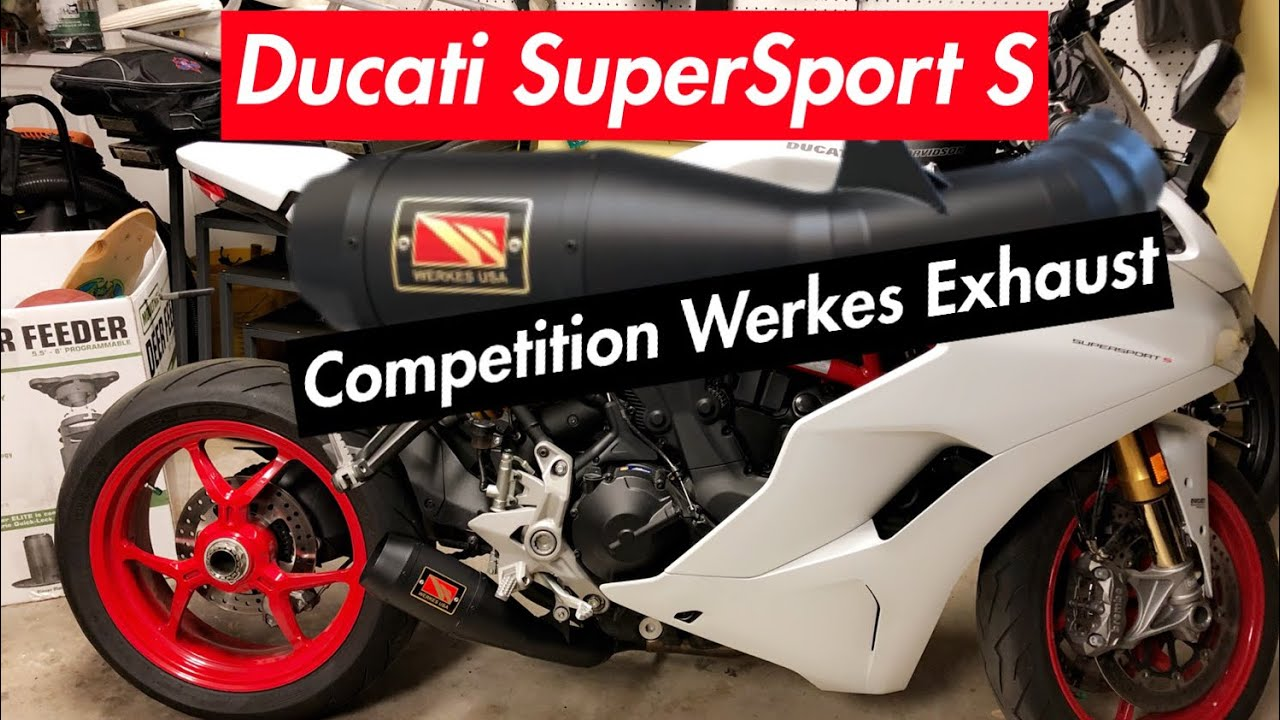full installation of competition werkes exhaust 2017 ducati supersport s