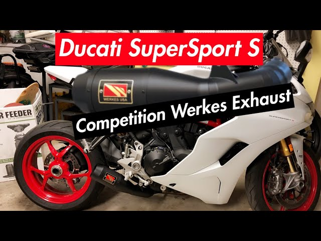 Full Installation of Competition Werkes Exhaust - 2017 Ducati Supersport S
