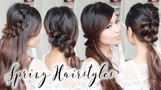 Cute & Easy Spring Hairstyles ♥ Braided Hair Tutorial for Long to Medium Hair