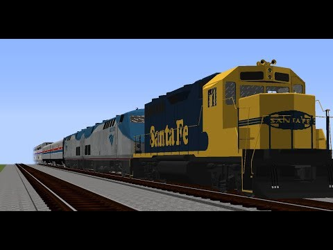 Repeat Minecraft   Immersive Railroading   Amtrak & Santa Fe