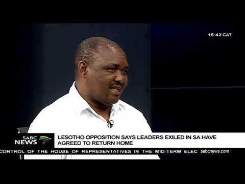 Former Deputy Prime Minister Mothejoa Metsing on going back to Lesotho