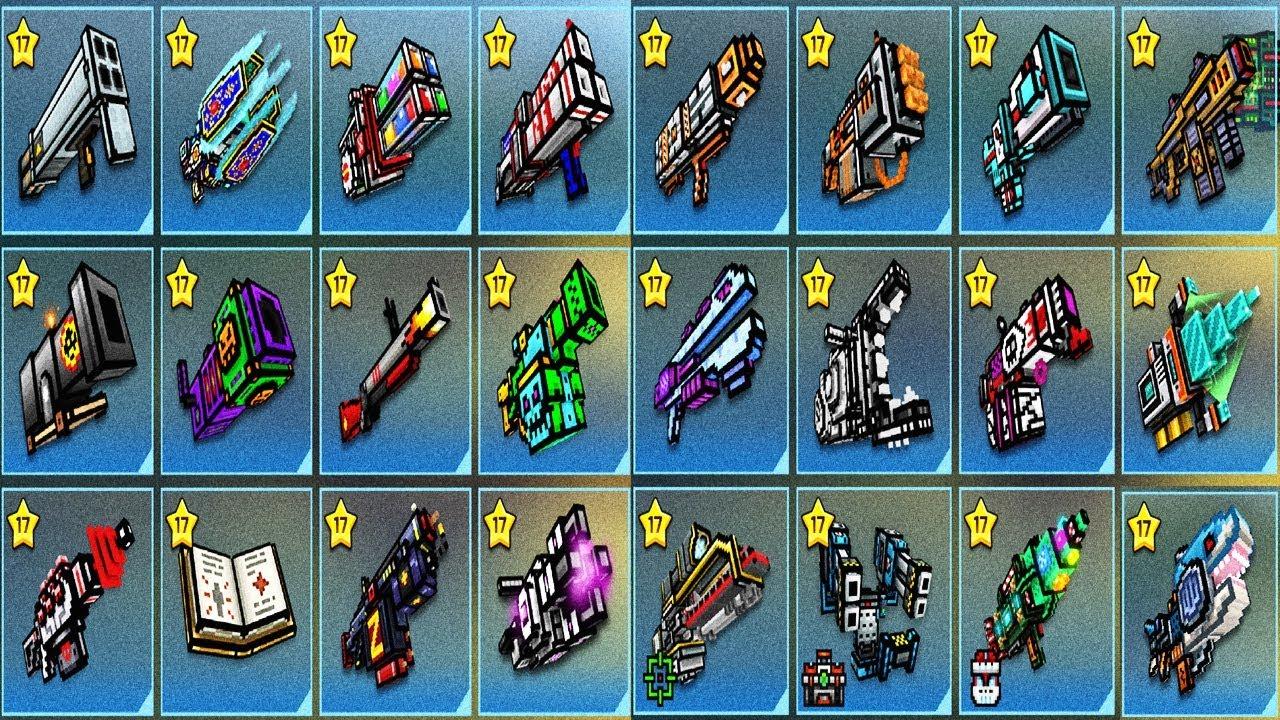 all heavy weapons in pixel gun 3d
