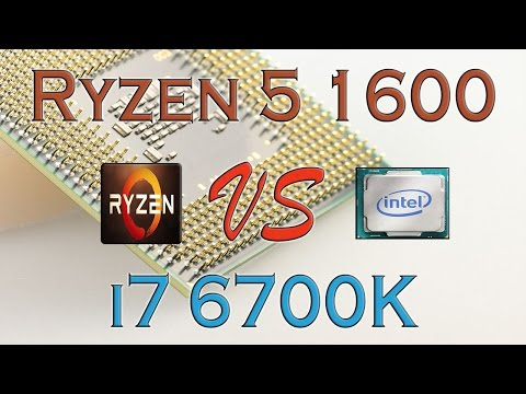 RYZEN 5 1600 Vs I7 6700K - BENCHMARKS / GAMING TESTS REVIEW AND COMPARISON / Ryzen Vs Skylake