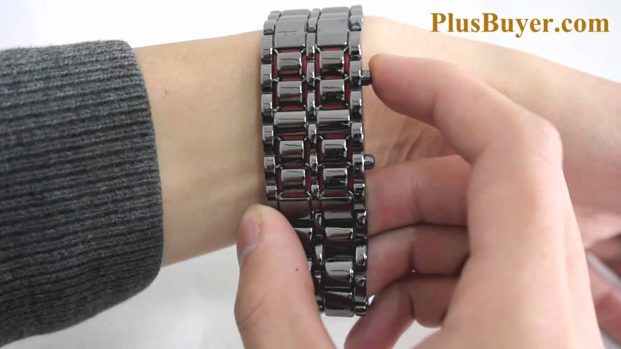 Iron Samurai - Japanese-inspired LED Watch - Red - YouTube 0f01167e32
