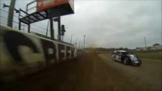 Darywn Karau USRA Modified Heat Race at Deer Creek Speedway