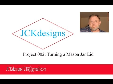 """Woodworking - How to make a """"Mason Jar"""" lid"""
