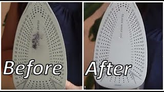 Easiest way to clean iron soleplate