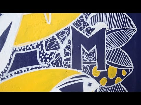 New interactive University of Michigan Mural Celebrates 2018 ​Commencement