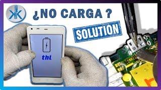 👍✔ COMO REPARAR MOVIL THL T5S / NO CARGA