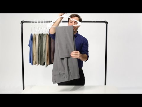 How to Hang Your Dress Pants with the Savile Row Fold   Bonobos