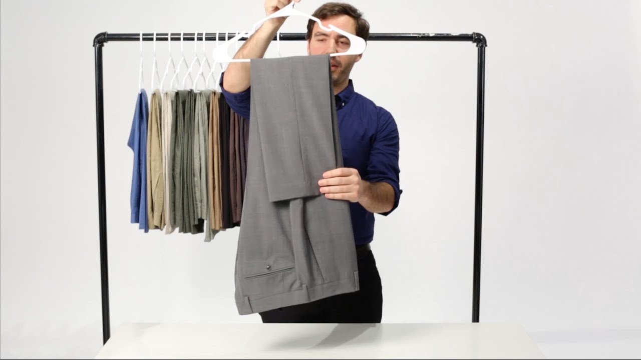 How to Hang Your Dress Pants with the Savile Row Fold | Bonobos ...