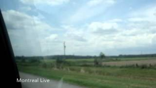 Frontière Ontario-Québec - Ontario-Quebec Border - Autoroute 20 O Ouest - Highway 401 W West